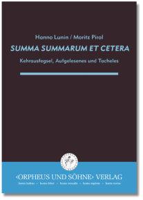 Orpheus Und Soehne Verlag Katalog Summa Summarum Et Cetera